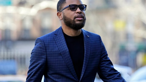 <p>               FILE - In this March 5, 2019, file photo, Christian Dawkins arrives at federal court in New York. A jury began deliberating on Monday, May 6, 2019, at the trial of Dawkins, a business manager, and youth basketball coach Merl Code, both accused of secretly bribing assistant college basketball coaches. (AP Photo/Seth Wenig, File)             </p>