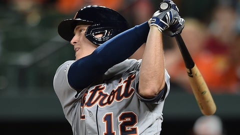 <p>               Detroit Tigers' Brandon Dixon follows through on a two-run home run against the Baltimore Orioles during the ninth inning of a baseball game Wednesday, May 29, 2019, in Baltimore. The Tigers won 4-2.(AP Photo/Gail Burton)             </p>