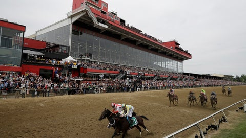 <p>               FILE - In this May 20, 2017, file photo, Cloud Computing (2), ridden by Javier Castellano, left, wins 142nd Preakness Stakes horse race at Pimlico race course as Classic Empire (5) with Julien Leparoux aboard takes second, in Baltimore. The future of Pimlico has turned into a tug of war involving city officials, who want it to stay in Baltimore, and the owners of the track, who long to move the second jewel of the Triple Crown to nearby Laurel. (AP Photo/Matt Slocum, File)             </p>