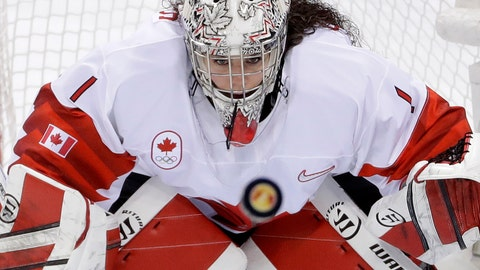 <p>               FILE - In this Feb. 22, 2018, file photo, goalie Shannon Szabados (1), of Canada, stares at the flying puck during the second period of the women's gold medal hockey game against the United States at the 2018 Winter Olympics in Gangneung, South Korea.  More than 200 of the top female hockey players in the world have decided they will not play professionally in North America next season, hoping their stand leads to a single economically sustainable league. The announcement Thursday, May 2, 2019, comes after the Canadian Women's Hockey League abruptly shut down as of Wednesday, leaving the five-team, U.S.-based National Women's Hockey League as the only pro league in North America. The group of players, led by American stars Hilary Knight and Kendall Coyne Schofield and Canadian goaltender Shannon Szabados, hopes their move eventually pushes the NHL to start its own women's hockey league as the NBA did with the WNBA. (AP Photo/Matt Slocum, File)             </p>