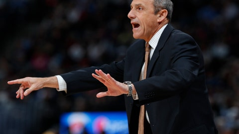 <p>               FILE - In this April 3, 2019, file photo, San Antonio Spurs assistant coach Ettore Messina gestures in the first half of an NBA basketball game against the Denver Nuggets, in Denver. A person familiar with Cleveland's coaching search tells The Associated Press the Cavaliers have scheduled an interview with San Antonio assistant Ettore Messina. The Cavs plan to meet with Messina later this week, said the person whospoke Monday, May 6, 2019, on condition of anonymity because the team is keeping details of their search confidential. (AP Photo/David Zalubowski. File)             </p>