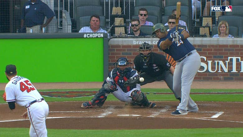 Jesus Aguilar breaks the tie with 2-run single in the first inning