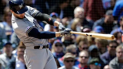 <p>               Milwaukee Brewers' Ryan Braun hits a solo home run against the Chicago Cubs during the fourth inning of a baseball game Friday, May 10, 2019, in Chicago. (AP Photo/Nam Y. Huh)             </p>