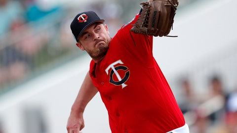 <p>               FILE - In this Monday, March 11, 2019 file photo, Minnesota Twins pitcher Addison Reed (43) works against the Detroit Tigers in the fourth inning of a spring training baseball game in Fort Myers, Fla. Relief pitcher Addison Reed has been designated for assignment by the Minnesota Twins following a rocky start to his rehabilitation assignment for a sprained thumb on his non-throwing hand that set him back in spring training. The move was made on Thursday, May 16, 2019 before the Twins played at Seattle, making room on the 40-man roster for right-handed reliever Austin Adams.  (AP Photo/John Bazemore, File)             </p>