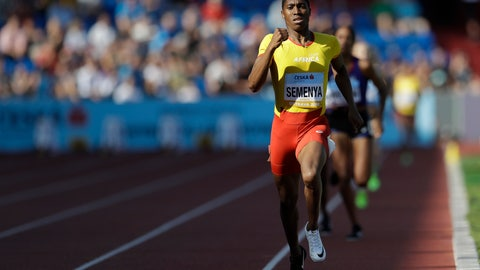 <p>               FILE - In this Sept. 9, 2018 file photo, Caster Semenya of South Africa crosses the finish line to win the women's 800 meters for Africa at the IAAF track and field Continental Cup in Ostrava, Czech Republic. Semenya's rollercoaster running career, jarred by an adverse court ruling on Wednesday, May 1, 2019, is unique in virtually all its details. Yet the dilemmas she has posed to the track-and-field establishment reflect how vast segments of the sports world are now wrestling with how best to deal with intersex and transgender athletes. (AP Photo/Petr David Josek)             </p>