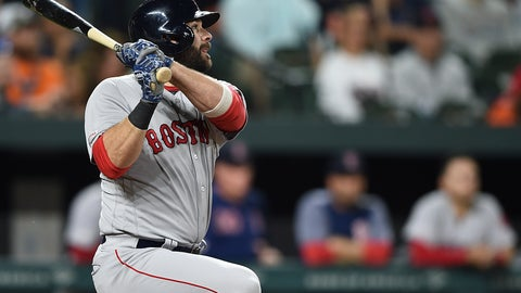 <p>               Boston Red Sox's Mitch Moreland watches his three-run home run against the Baltimore Orioles during the fifth inning of a baseball game Tuesday, May 7, 2019, in Baltimore. (AP Photo/Gail Burton)             </p>