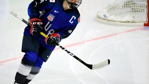 <p>               FILE - In this April 6, 2019, file photo, Kendall Coyne Schofield of Team USA looks on during the 2019 IIHF Women's World Championships preliminary match against Canada, in Espoo, Finland. More than 200 of the top female hockey players in the world have decided they will not play professionally in North America next season, hoping their stand leads to a single economically sustainable league. The announcement Thursday, May 2, 2019, comes after the Canadian Women's Hockey League abruptly shut down as of Wednesday, leaving the five-team, U.S.-based National Women's Hockey League as the only pro league in North America. The group of players, led by American stars Hilary Knight and Kendall Coyne Schofield and Canadian goaltender Shannon Szabados, hopes their move eventually pushes the NHL to start its own women's hockey league as the NBA did with the WNBA. (Antti Aimo-Koivisto/Lehtikuva via AP, File)             </p>