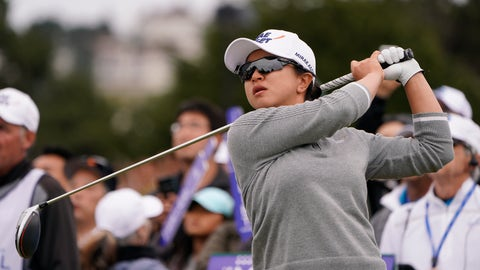 <p>               Sei Young Kim, of South Korea, tees off on the first hole of the Lake Merced Golf Club during the final round of the LPGA Mediheal Championship golf tournament Sunday, May 5, 2019, in Daly City, Calif. (AP Photo/Tony Avelar)             </p>