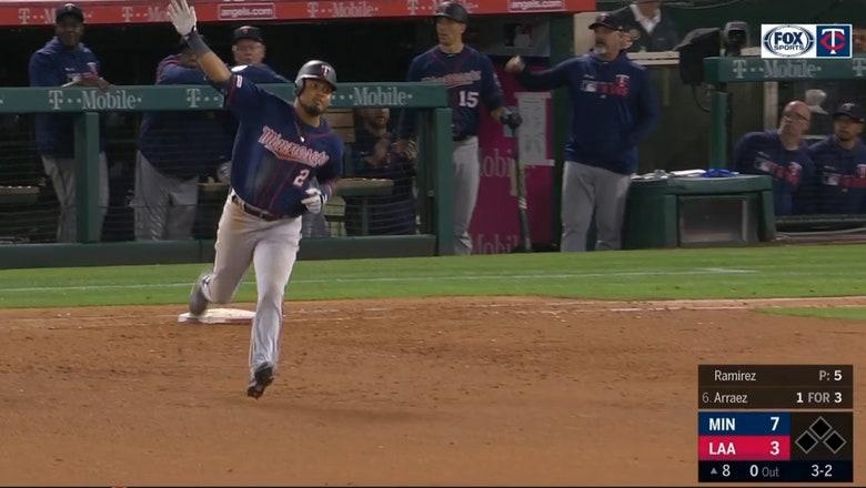 WATCH: Twins rookie Luis Arraez hits first MLB home run