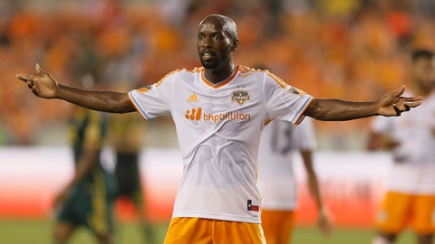 <p>               FILE - In this Saturday, May 16, 2015 file photo, Houston Dynamo midfielder DaMarcus Beasley gestures to the linesman for a call in the first half of an MLS soccer game against the Portland Timbers in Houston. DaMarcus Beasley says he will retire at the end of the Houston Dynamo season after 20 years in professional soccer. Beasley, a midfielder and left back, is the only American who has played in four World Cups and the only American to appear in a European Champions League semifinal. He turns 37 on May 24, 2019. (AP Photo/Bob Levey, File)             </p>