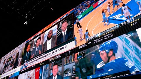 <p>               This March 8, 2019 photo shows a wall of video screens in the sports betting lounge at the Tropicana casino in Atlantic City N.J. On May 8, 2019, Fox Sports announced it is buying nearly 5 percent of The Stars Group, the parent company of PokerStars, and that the two companies will offer sports betting in the fall in the U.S. (AP Photo/Wayne Parry)             </p>