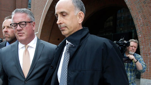<p>               California businessman Stephen Semprevivo departs federal court Tuesday, May 7, 2019, in Boston, after pleading guilty to charges that he bribed the Georgetown tennis coach to get his son admitted to the school. (AP Photo/Steven Senne)             </p>