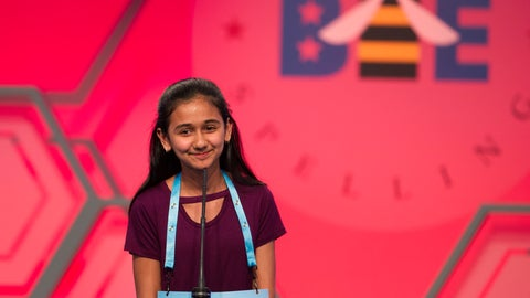 <p>               FILE - In this May 31, 2018, file photo, Naysa Modi, 12, from Frisco, Texas, spells her word incorrectly during the evening finals of the Scripps National Spelling Bee in Oxon Hill, Md. Ties are back at the Scripps National Spelling Bee. To the relief of many participants, bee organizers have gotten rid of the written test spellers took just in case a single champion couldn't be identified during the ESPN-televised finals. (AP Photo/Cliff Owen, File)             </p>