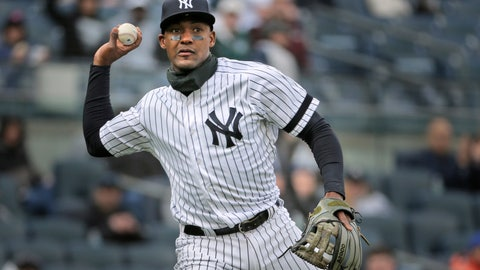 <p>               FILE - In this March 31, 2019, file photo, New York Yankees' Miguel Andujar throws to first base during the second inning of the team's baseball game against the Baltimore Orioles at Yankee Stadium in New York. Andújar is set to come off the injured list Saturday, and the team hopes infielder DJ LeMahieu will return to the lineup that day as well. Yankees outfielder Clint Frazier is scheduled to follow on Monday, when center fielder Aaron Hicks could begin a minor league rehab assignment. With 13 players still on the injured list, manager Aaron Boone gave a long rundown of medical status reports Friday, May 3, before New York opened a homestand against the major league-leading Minnesota Twins. (AP Photo/Seth Wenig, File)             </p>