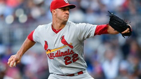 <p>               St. Louis Cardinals' Jack Flaherty pitches against the Atlanta Braves during the first inning of a baseball game Tuesday, May 14, 2019, in Atlanta. (AP Photo/John Amis)             </p>