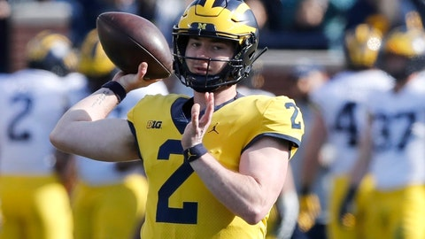 <p>               In this April 13, 2019, photo, Michigan quarterback Shea Patterson throws during the Michigan's annual spring NCAA college football game in Ann Arbor, Mich. A string of recent high-profile transfers gave the college football world the impression it was getting easier for players to switch schools and compete right away. Patterson to Michigan, Justin Field to Ohio State and Tate Martell to Miami seemed to usher in a new era of free agency, but waiver approvals are still far from a sure thing. That is prompting athletes, coaches and others to complain about a process that can be somewhat mysterious. (AP Photo/Carlos Osorio)             </p>
