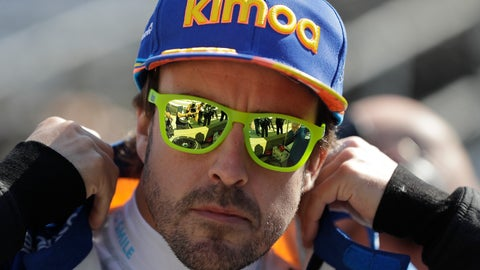 <p>               Fernando Alonso, of Spain, prepares to practice for the Indianapolis 500 IndyCar auto race at Indianapolis Motor Speedway, Tuesday, May 14, 2019, in Indianapolis. (AP Photo/Darron Cummings)             </p>