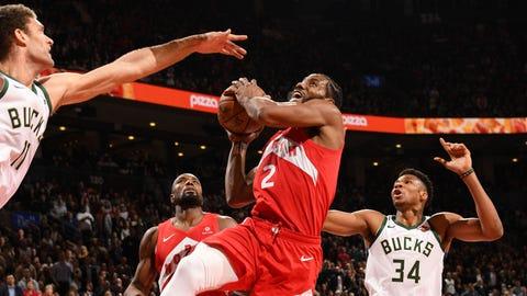 Bucks-76ers and Bucks-Raptors would both be fun