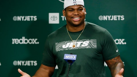 <p>               New York Jets' Quinnen Williams speaks during an NFL football news conference Friday, May 10, 2019, in Florham Park, N.J. (AP Photo/Frank Franklin II)             </p>