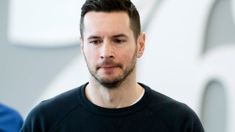 <p>               Philadelphia 76ers' JJ Redick arrives for a news conference at the NBA basketball team's practice facility in Camden, N.J., Monday, May 13, 2019. (AP Photo/Matt Rourke)             </p>
