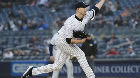 <p>               New York Yankees' James Paxton delivers a pitch during the first inning of the team's baseball game against the Minnesota Twins on Friday, May 3, 2019, in New York. (AP Photo/Frank Franklin II)             </p>