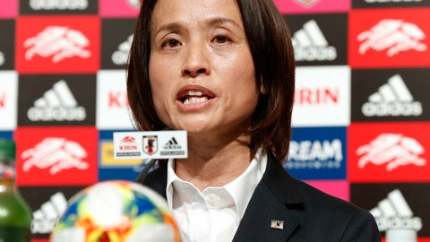 <p>               Japan's women's soccer head coach Asako Takakura names her World Cup squad during a press conference in Tokyo Friday, May 10, 2019. Takakura is going with a youthful team as the country aims to regain its winning form. (Hiroko Harima/Kyodo News via AP)             </p>