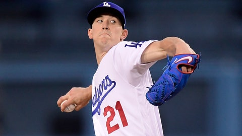 <p>               Los Angeles Dodgers starting pitcher Walker Buehler throws to the plate during the first inning of a baseball game against the Atlanta Braves, Monday, May 6, 2019, in Los Angeles. (AP Photo/Mark J. Terrill)             </p>