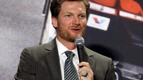 <p>               FILE - In this April 25, 2017, file photo, Dale Earnhardt Jr. speaks during a news conference at Hendrick Motorsports in Concord, N.C. Earnhardt Jr. will work his first Kentucky Derby on Saturday, May 4, 2019, as part of his expanding role with NBC Sports. The retired NASCAR superstar is also slated to cover his first Indianapolis 500 later this month. (AP Photo/Chuck Burton, File)             </p>