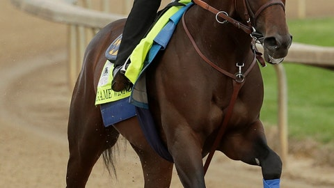 <p>               Kentucky Derby entrant Game Winner is ridden during a workout at Churchill Downs Wednesday, May 1, 2019, in Louisville, Ky. The 145th running of the Kentucky Derby is scheduled for Saturday, May 4. (AP Photo/Charlie Riedel)             </p>