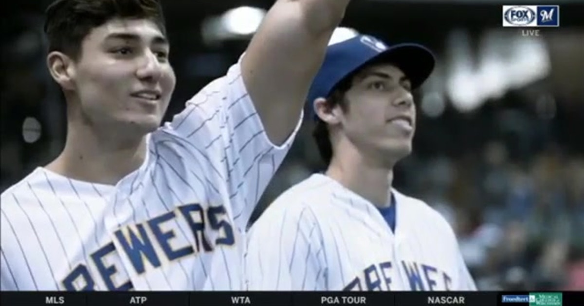 Brewers' Yelich on his brother, Cameron, a former Marine