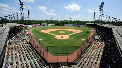 <p>               The minor league Birmingham Barons and the Montgomery Biscuits play a game in Rickwood Field, America's oldest baseball park, in Birmingham, Ala., Wednesday, May 29, 2019. Built in 1910, the ballpark predates better-known parks including Chicago's Wrigley Field and Fenway Park in Boston. (AP Photo/Jay Reeves)             </p>