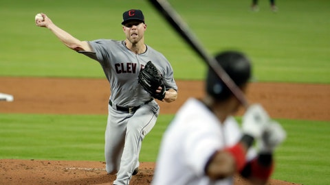 <p>               Cleveland Indians starting pitcher Corey Kluber throws to a Miami Marlins batter during the first inning of a baseball game Wednesday, May 1, 2019, in Miami. (AP Photo/Lynne Sladky)             </p>