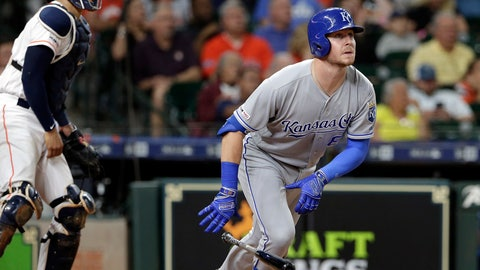 <p>               Kansas City Royals' Ryan O'Hearn (66) watches his grand slam in front of Houston Astros catcher Robinson Chirinos during the third inning of a baseball game Tuesday, May 7, 2019, in Houston. (AP Photo/Michael Wyke)             </p>