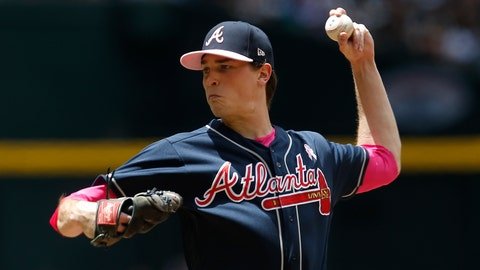 <p>               Atlanta Braves pitcher Max Fried throws against the Arizona Diamondbacks in the first inning during a baseball game, Sunday, May 12, 2019, in Phoenix. (AP Photo/Rick Scuteri)             </p>