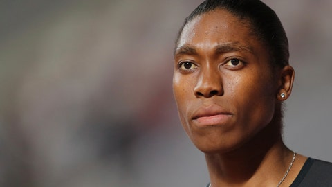 <p>               South Africa's Caster Semenya competes in the women's 800-meter final during the Diamond League in Doha, Qatar, Friday, May 3, 2019. (AP Photo/Kamran Jebreili)             </p>