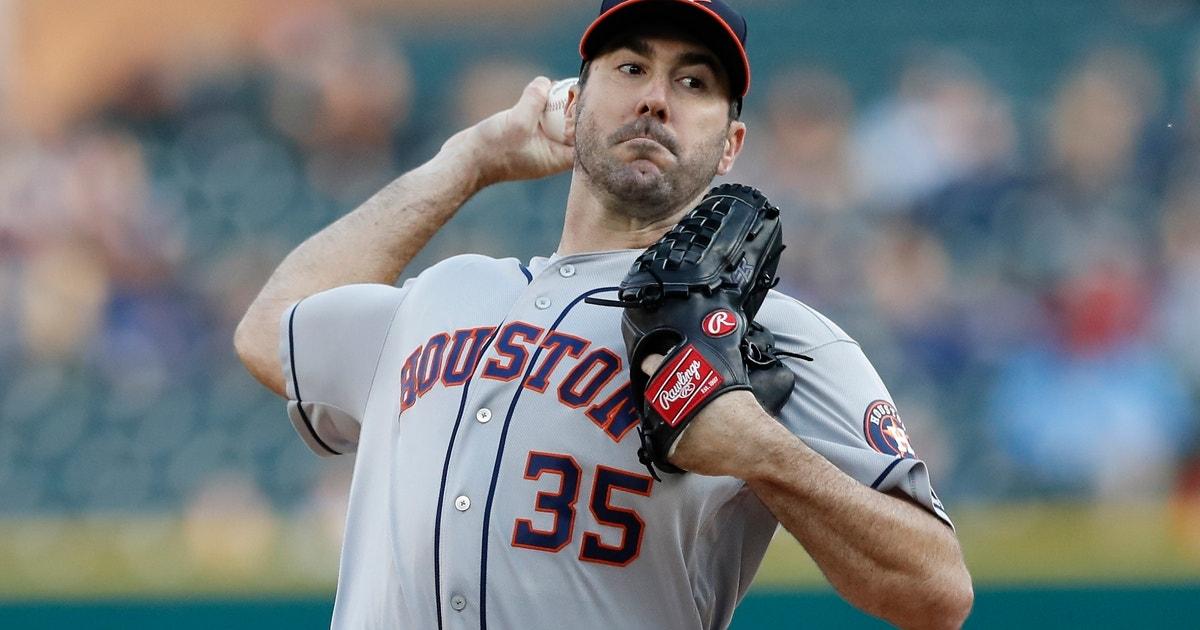 Verlander sharp against old team, Astros top Tigers 5-1