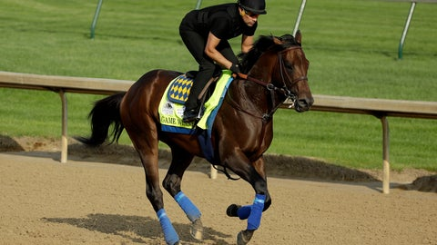 <p>               Kentucky Derby entrant Game Winner runs during a workout at Churchill Downs Thursday, May 2, 2019, in Louisville, Ky. The 145th running of the Kentucky Derby is scheduled for Saturday, May 4. (AP Photo/Charlie Riedel)             </p>