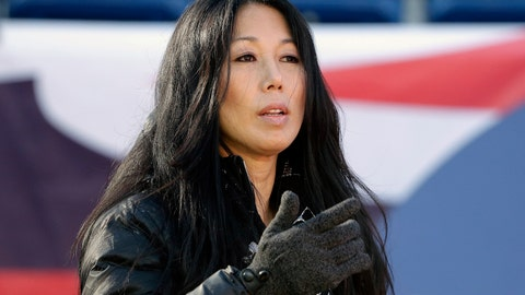 <p>               FILE - In this Dec. 23, 2018, file photo, Buffalo Bills co-owner Kim Pegula stands on the field as the team warms up before an NFL football game against the New England Patriots, in Foxborough, Mass. A person with direct knowledge of the decision tells The Associated Press that Kim Pegula, also owner of the Buffalo Beauts, has given up control of the National Women's Hockey League franchise. The person spoke to The AP on Wednesday, May 8, 2019, on the condition of anonymity because the decision won't be announced until later in the day. The person said Beauts owner Kim Pegula informed NWHL Commissioner Dani Rylan of her decision during a conference call Tuesday. (AP Photo/Steven Senne, File)             </p>
