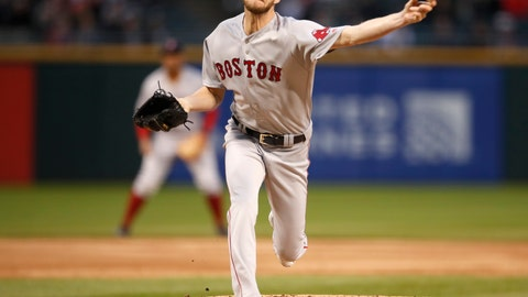 <p>               Boston Red Sox starting pitcher Chris Sale delivers during the first inning of a baseball game against the Chicago White in Chicago on Friday, May 3, 2019. (AP Photo/Jeff Haynes)             </p>
