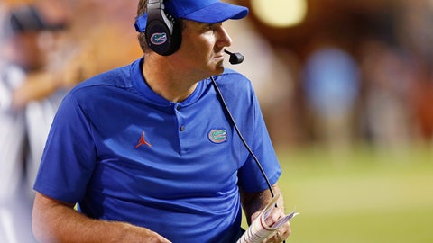 """<p>               FILE - In this Sept. 22, 2018, file photo, Florida coach Dan Mullen watches during the first half of the team's NCAA college football game against Tennessee in Knoxville, Tenn. Mullen's strong, personal beliefs about violence toward women haven't resulted in a zero-tolerance policy for his program. Although Mullen expressed disappointment in having two players and a staff member accused of violence toward women in the past month, he acknowledged Wednesday, May 15, 2019, that he'd """"be hypocritical if you look at my history to say to that is a 100 percent deal."""" Mullen's past experiences explain why safety Brian Edwards and Otis Yelverton, an assistant director of player personnel, remain part of the program. (AP Photo/Wade Payne, File)             </p>"""