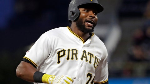 <p>               Pittsburgh Pirates' Gregory Polanco rounds third base after hitting a two-run home run off Texas Rangers starting pitcher Adrian Sampson during the fifth inning of a baseball game in Pittsburgh, Tuesday, May 7, 2019. (AP Photo/Gene J. Puskar)             </p>