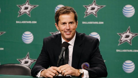 <p>               FILE - In this Nov. 22, 2014, file photo, NHL Hall of Fame class of 2014 inductee Mike Modano talks about his time in the league during a press conference before an NHL hockey game between the Dallas Stars and Los Angeles Kings in Dallas. Modano has decided to return to his NHL roots in Minnesota. The Hall of Fame center was named executive adviser to Minnesota Wild owner Craig Leipold and president Matt Majka on Thursday, May 23, 2019. (AP Photo/Brandon Wade, File)             </p>