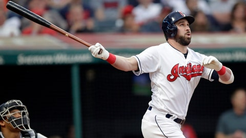 <p>               Cleveland Indians' Jason Kipnis watches his ball after hitting a three-run home run off Baltimore Orioles starting pitcher Gabriel Ynoa in the fourth inning of a baseball game, Thursday, May 16, 2019, in Cleveland. Jordan Luplow and Roberto Perez scored on the play. (AP Photo/Tony Dejak)             </p>