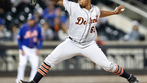 <p>               Detroit Tigers starting pitcher Gregory Soto winds up during the fourth inning of a baseball game against the New York Mets, Friday, May 24, 2019, in New York. (AP Photo/Kathy Willens)             </p>