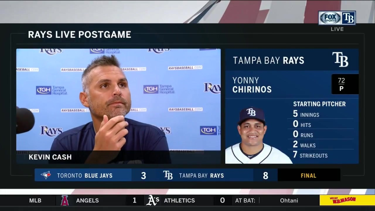 Kevin Cash recaps Rays' 8-3 win over Blue Jays