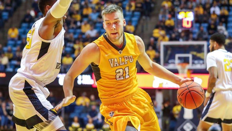 Graduated Valpo center Derrik Smits (son of Rik) transfers to Butler
