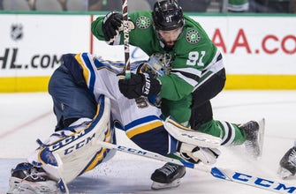 Blues lose chippy game to Stars 4-2, series tied at 2-2
