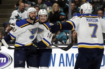 Blues tie up series with strong defensive play in 4-2 Game 2 win