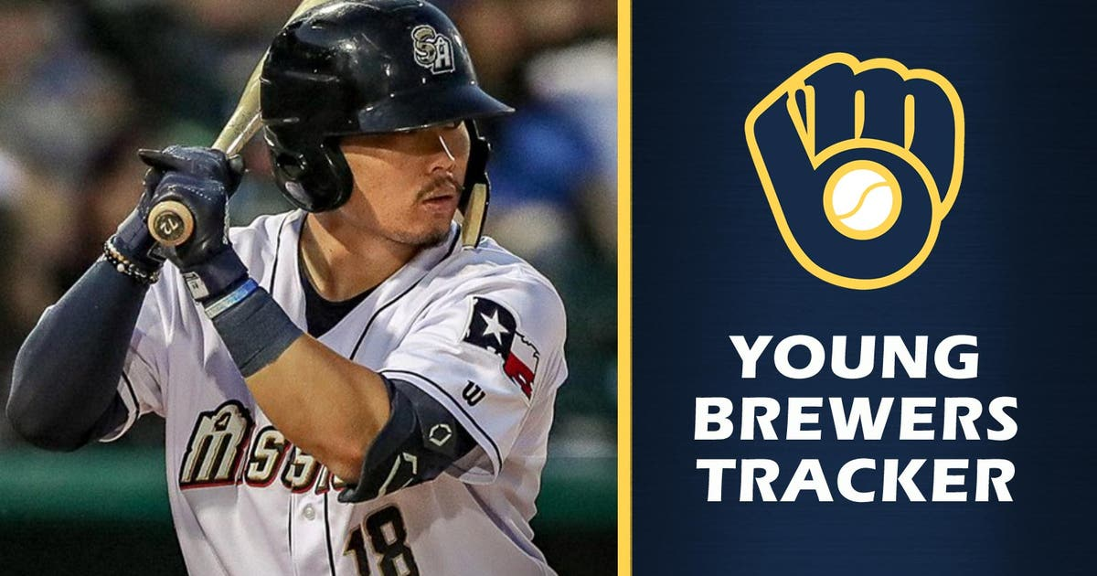 brewers top prospect keston hiura continues to swing