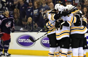 Bruins strike back, defeat Blue Jackets 4-1 to even series